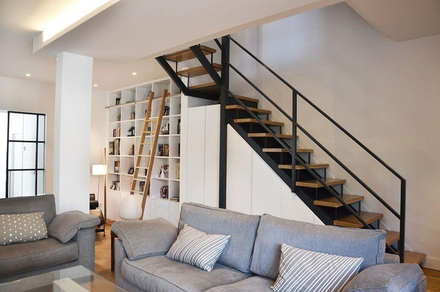Escaleras con perfiles de acero