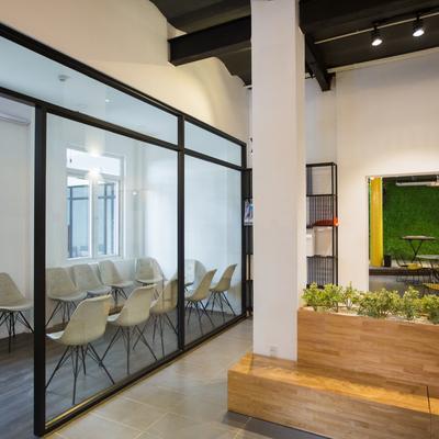 Separación de espacios con cristales o tabique vidriado