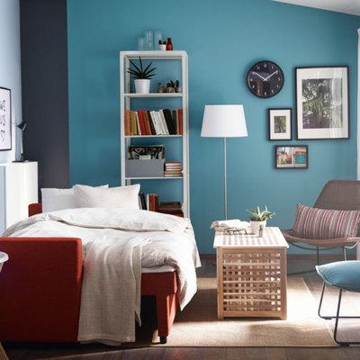 Habitación con tres colores
