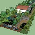 3D acceso Complejo deportivo Colegio Alberto Widmer