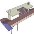 Diseño escalera restaurant