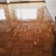 piso de eucalipto terminado, con 3 capas de vitrificado