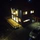 Vista aérea de terraza y estacionamiento
