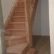 Escalera semicurva madera