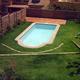 Vista de piscina romana de 6 x 3