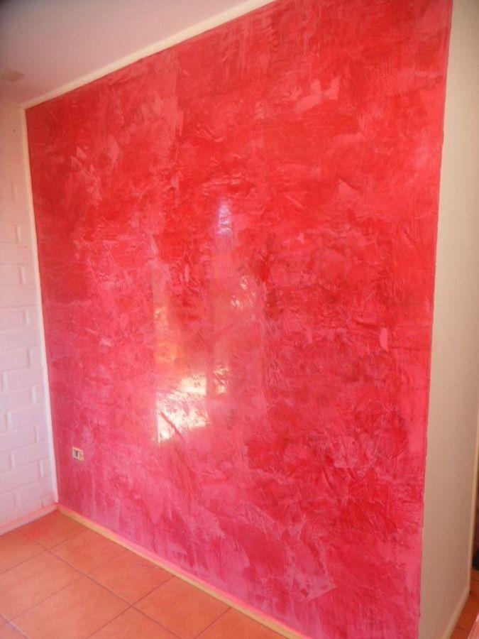 Foto estuco veneciano rojo de kuntur pintura 152192 for Pintura color marmol