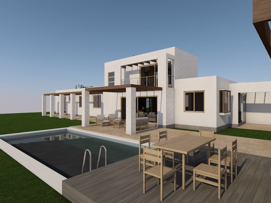 Foto casa moderna casa mediterranea en chile de for Proyectos casas modernas