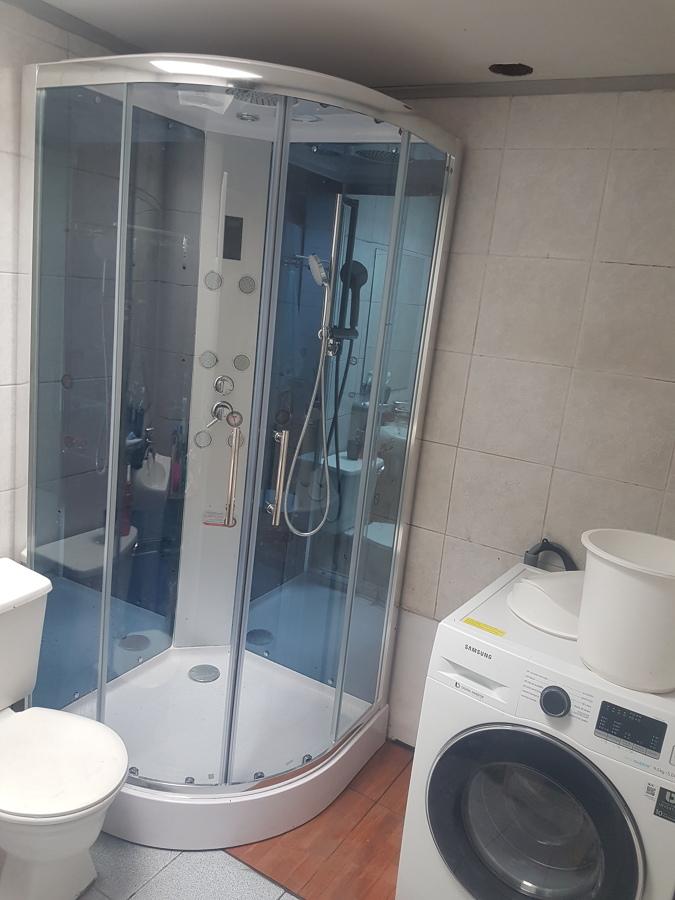 instalación de shower