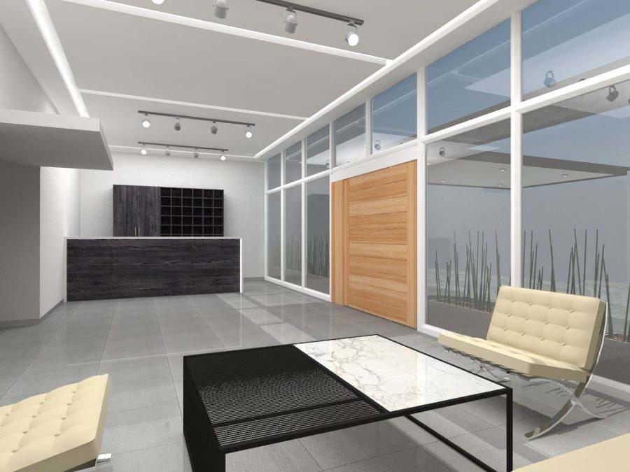 Render Propuesta hall de acceso residencial, Edificio Povidencia