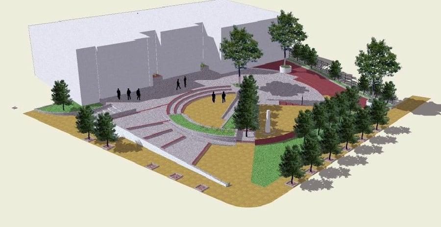 Foto 3d proyecto dise o plaza del registro civil de - Arquitectura de diseno ...