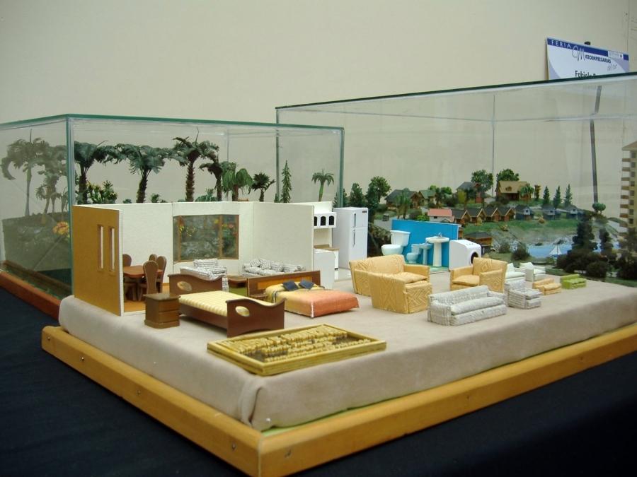 Muebles para maquetas de casas imagui for Casa minimalista maqueta