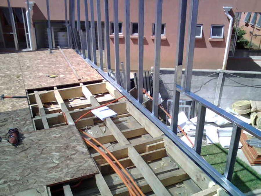 Foto ampliacion segundo piso de r i m construcci n y for Materiales para hacer un piso