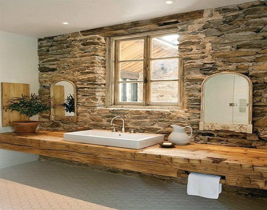 Foto ba o estilo r stico de instalaciones jos valentin - Casas con estilo rustico ...