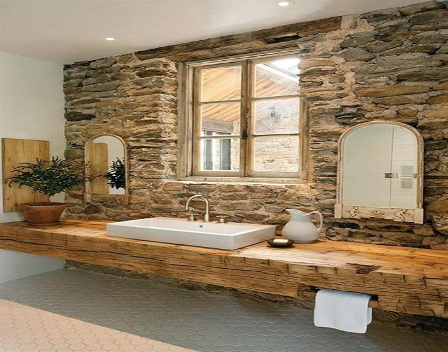 Foto ba o estilo r stico de instalaciones jos valentin for Case di legno rustico