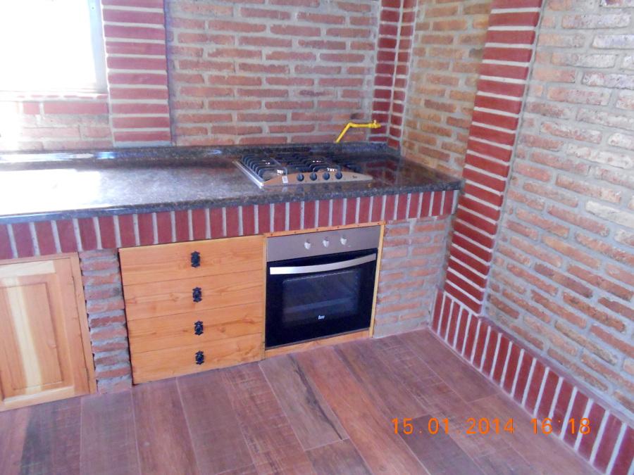 Foto Cocina Encimera A Gas Y Horno Electrico Para Quincho