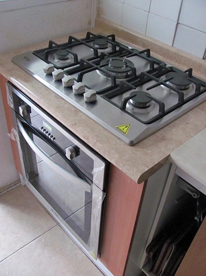 Foto cocina y horno empotrado de fd dise adores y for Cocina vitroceramica a gas