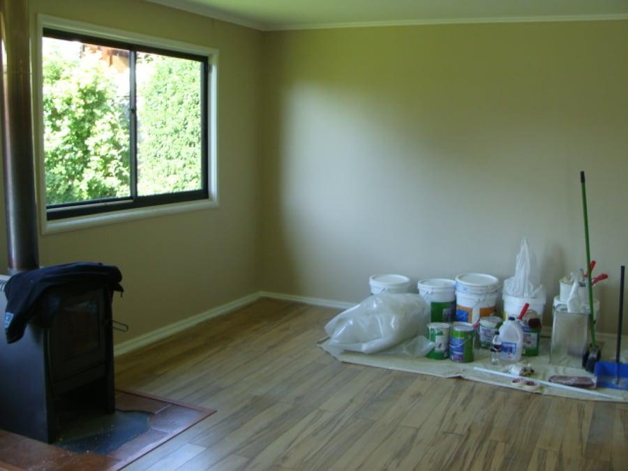 Foto pintado living comedor de servicio de pintura for Como ambientar un living comedor