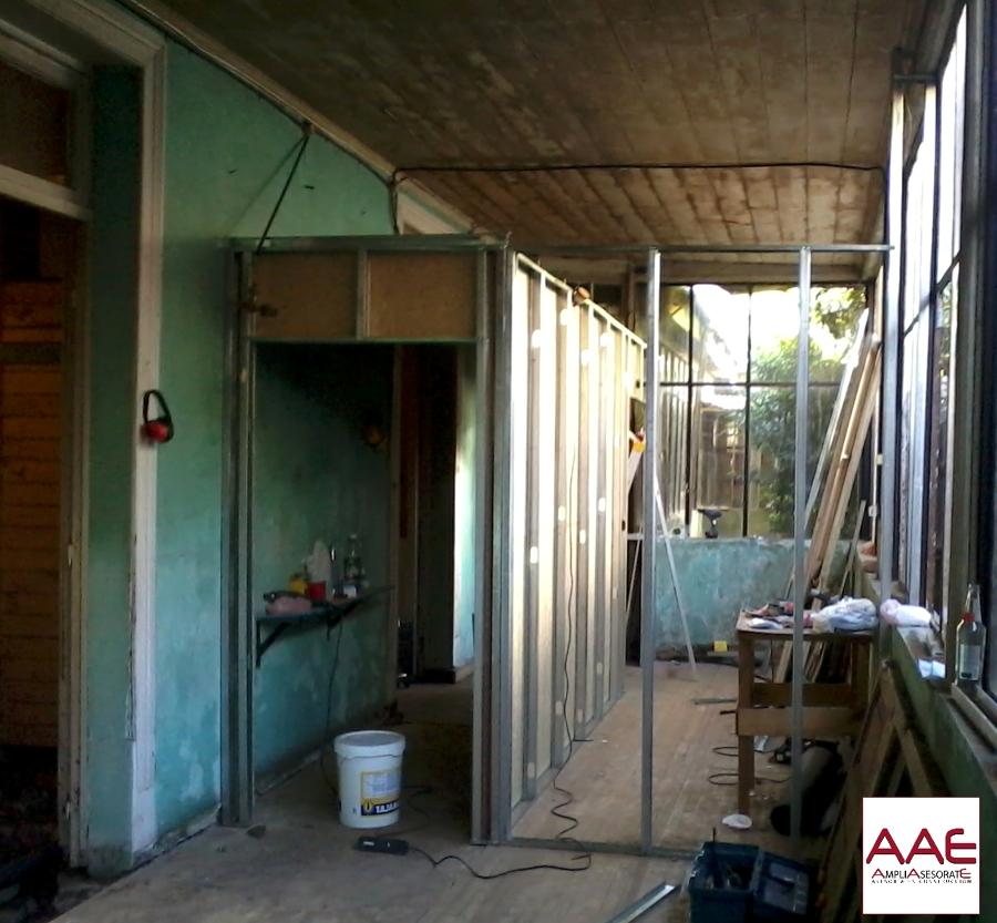 Foto estructura pasillo y muro cortina de ampl a - Cortinas para pasillos ...