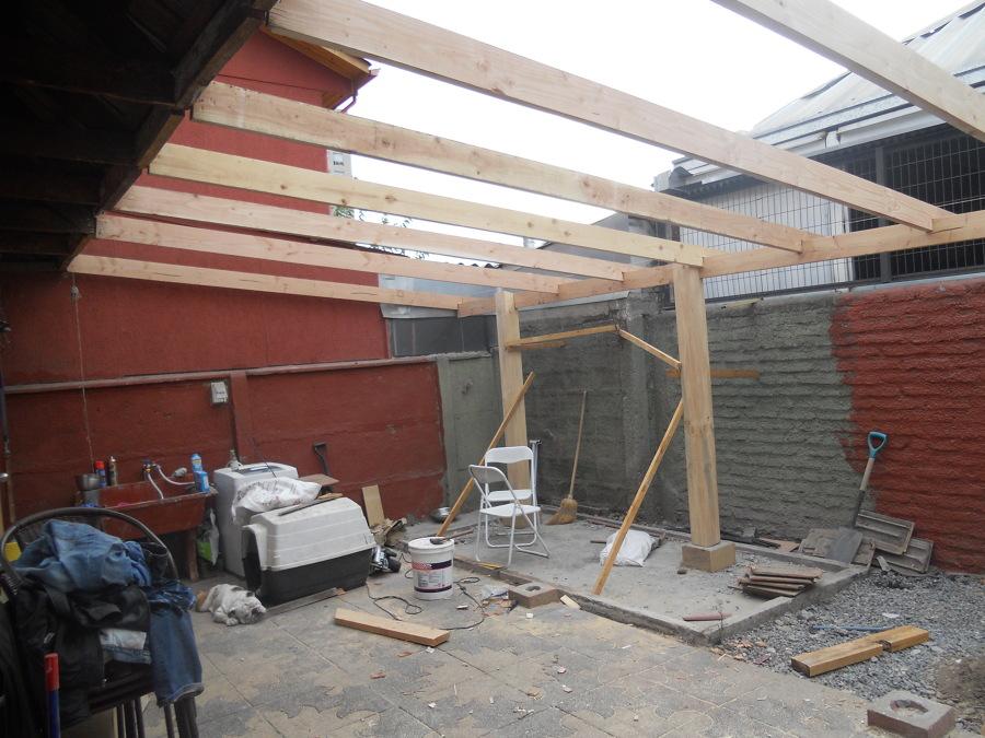Foto fabricacion de cobertizo en madera de mantenciones for Cobertizos madera economicos