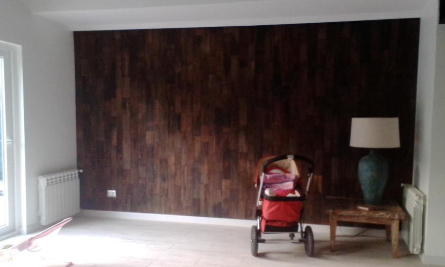 muro enchape madera