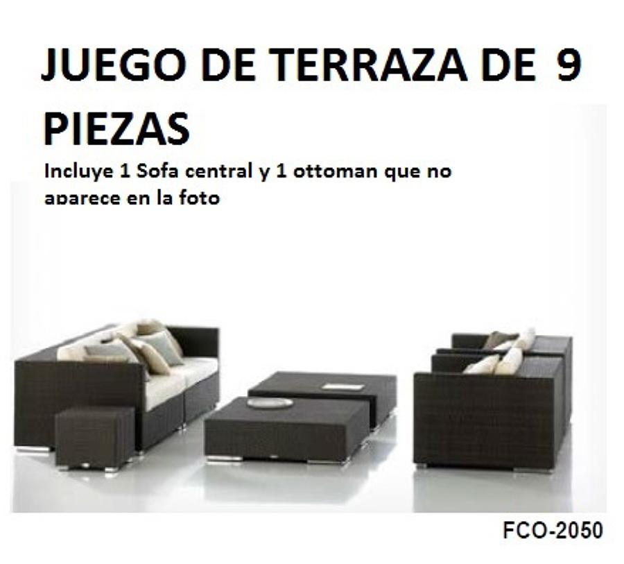 Foto juego de terraza de 9 piezas en ratan pe de barateli for Compro juego de terraza