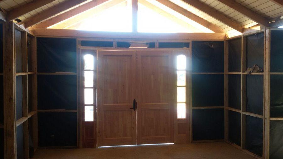 foto mampara acceso modelo villarrica de constructora hrt
