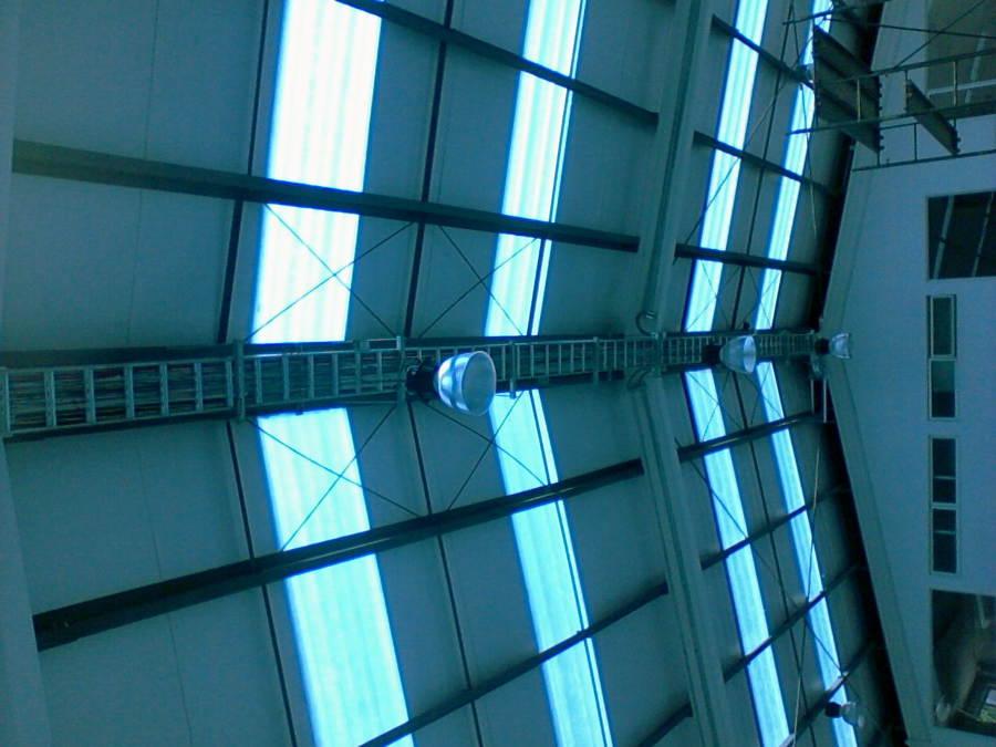 montaje escalerillas y luminarias
