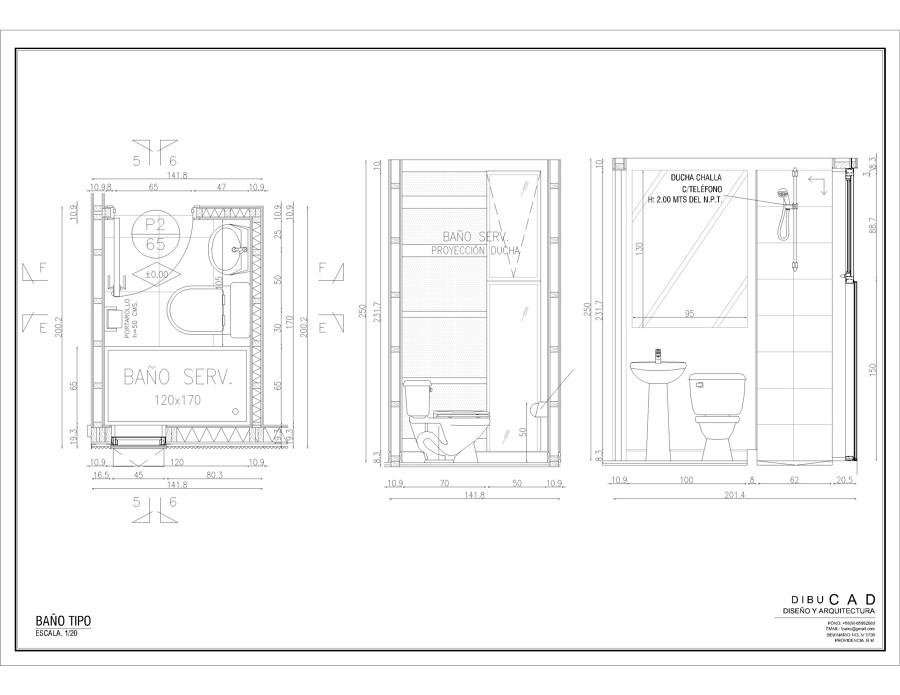 Foto plano ba o tipo de f brica arquitectos 22645 - Planos de banos ...