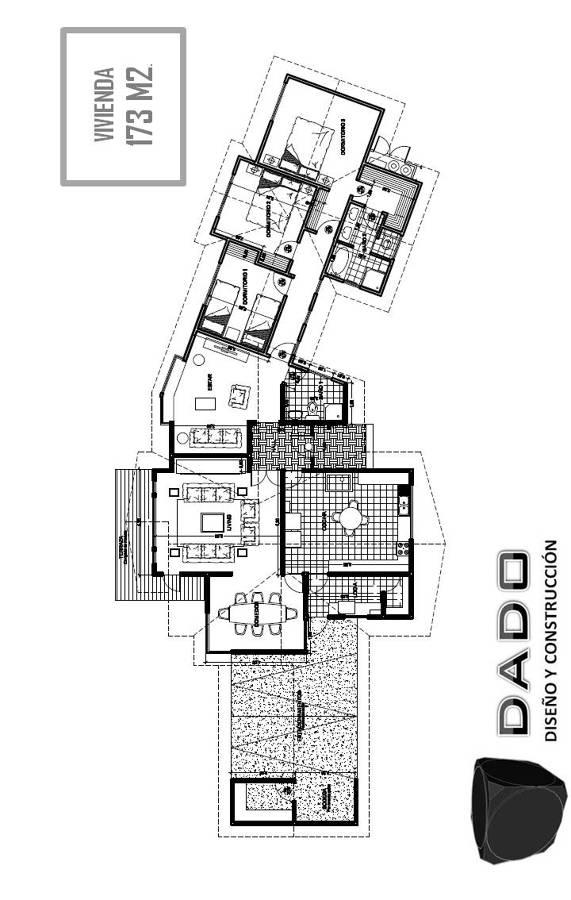 Foto plano casa 2 de dado dise o y construcci n 38107 for Plano construccion casa