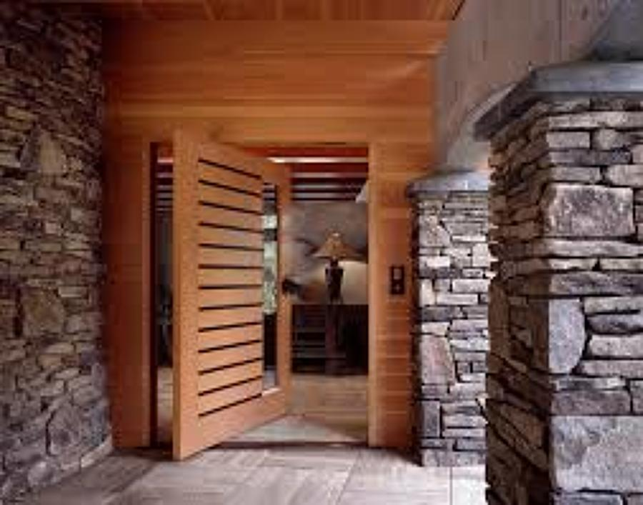 puerta madera nativa