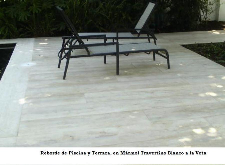 Foto revestimiento borde de piscina de cs marmoles 9868 for Precio marmol travertino para exterior