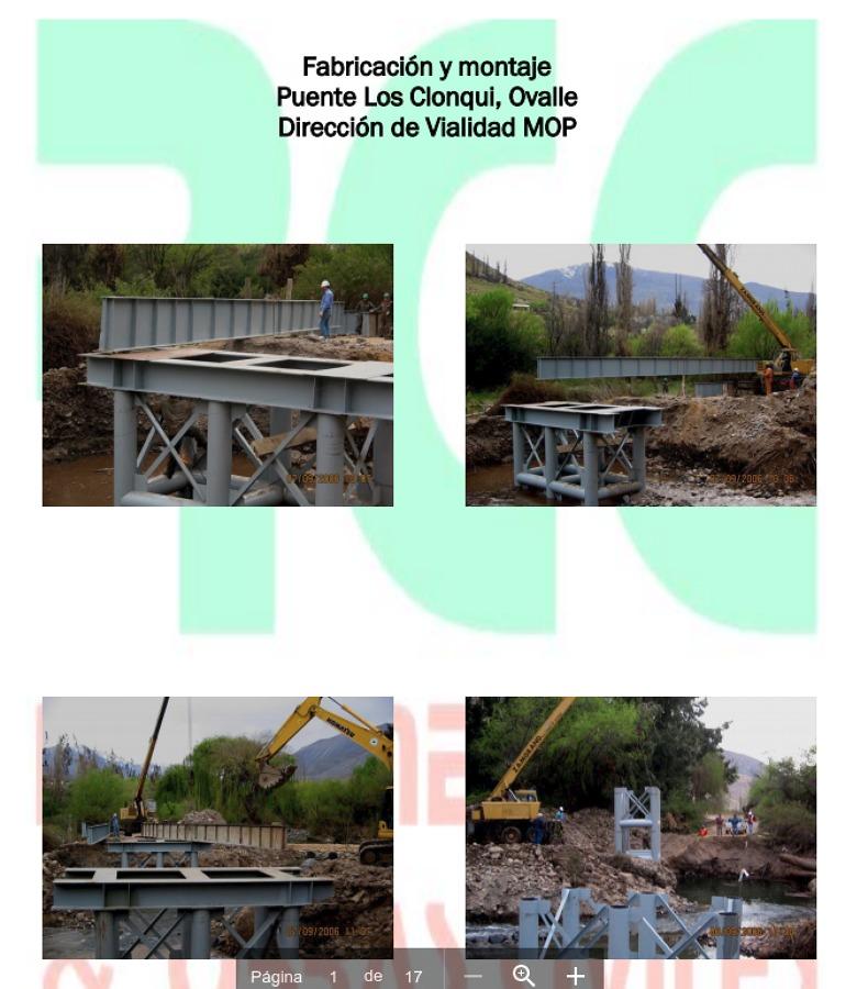Fabricación y montaje Puente Los Clonqui