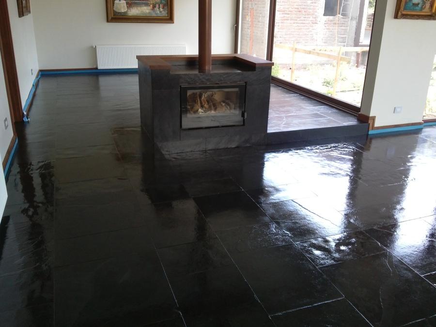 Foto vitrificado de piso de piedra pizarra de donoso - Piso de pizarra ...