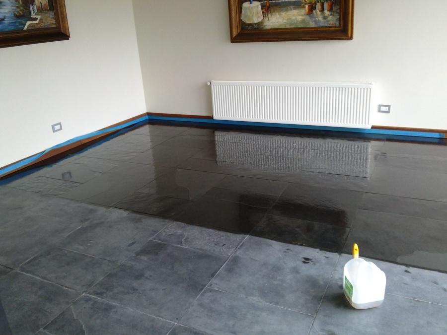 Foto vitrificado de piso en piedra pizarra de donoso - Piso de pizarra ...