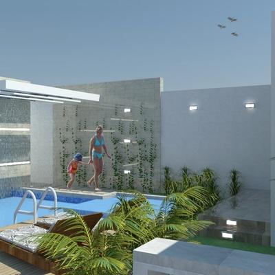 Diseño piscina y jardín