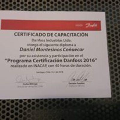 Certificaión de Capacitación Danfoos Chile
