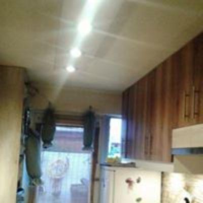 Iluminación de la cocina en el techo