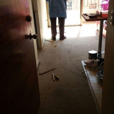 Cambio cubre piso a piso flotante