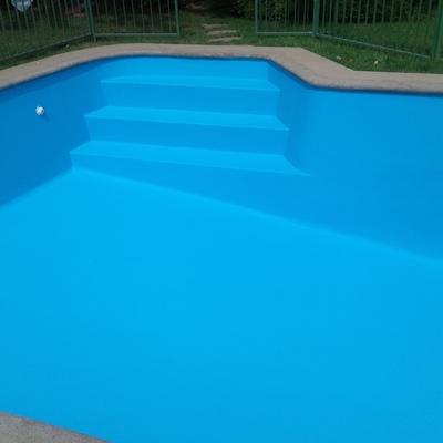 reparación de piscina y pintura