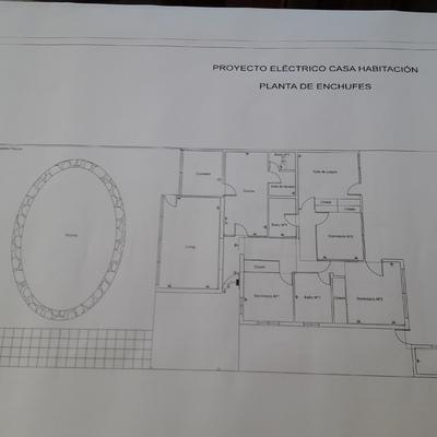 planos eléctricos casa habitacion