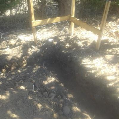 excavación para cimientos