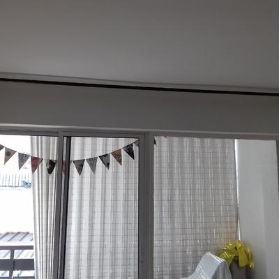Instalación de barras de cortina.
