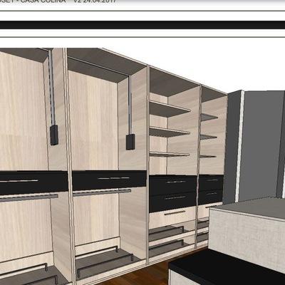 Visualizacion 3d  de un proyecto Walk in closet