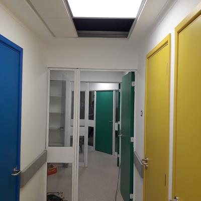 iluminacion pasillos quirurgicos