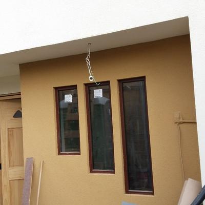 Construccion de fachada de casa habitacion comuna de Ñuñoa