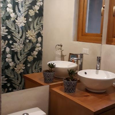 Diseño baño visita, Mural