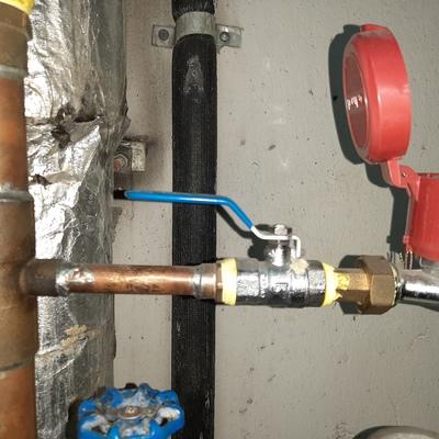 Instalación llave de paso medidor de agua