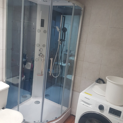instalación de shower