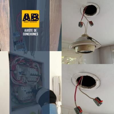 Reparación e lámpara y ajustes en tablero principal