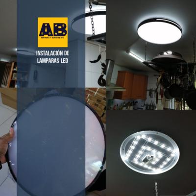 Instalación e lámparas LED